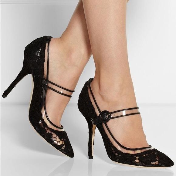 Dolce Gabbana Lace Mary Jane Heels